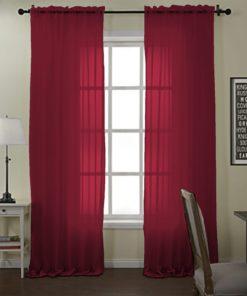 Durable Fabric Net Curtains ( 2 Curtain Set )