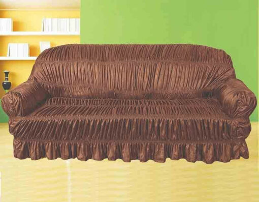 Silk Brown Sofa over brown