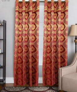 Imported Silk Shanghai Curtains Blackout ( 2 Curtains Set )