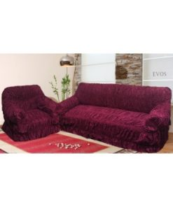 Soft Feel Premium Quality Emboss Velvet Sofa Loose Cover/Couch Cover)