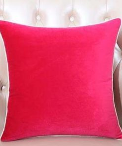 Pack of 5 Plain Soft Feel Velvet Cushion Cover 18 x 18 ( Without Filling )