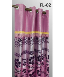 Imported Heavy Flock Leather Curtains Blackout ( 2 Curtains Set )