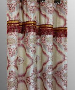 Imported Silk Shanghai Curtains Blackout ( 2 Curtains Set )
