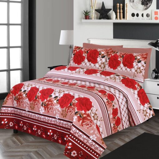 Imported Cotton Satin Bed Sheet 7