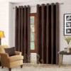Imported Malai Velvet Curtains Brown
