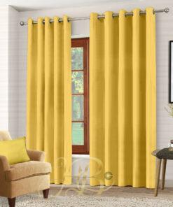 Imported Malai Velvet Curtains Golden