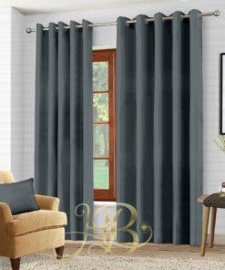 Imported Malai Velvet Curtains Grey