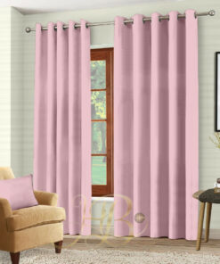 Imported Malai Velvet Curtains Pink