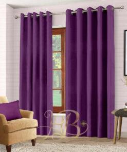 Imported Malai Velvet Curtains Purple