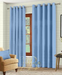 Imported Malai Velvet Curtains light Blue
