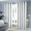 Imported Malai Velvet Curtains light White