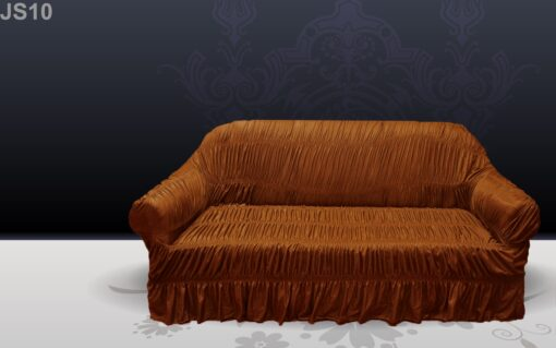 Brown Silk Sofa Cover in pakistan