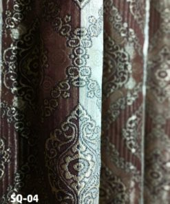 Made in Pakistan Jacquard Semi Quilt Curtains ( 2 Curtain Set )