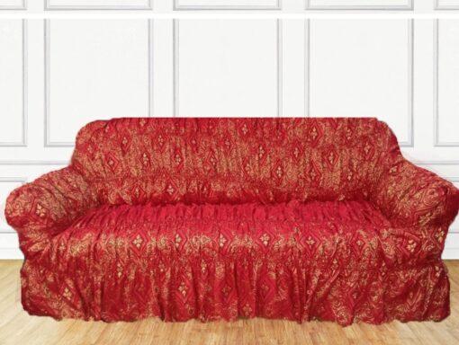 Red Jacqard Sofa Cover in Pakistan