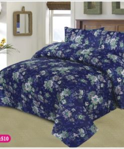 Export Quality Double Bed Sheet with 2 Pillow Covers (3 Pcs)