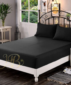 Fitted Sheet Black