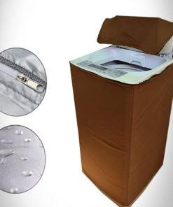 brown washing machine cover