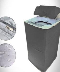grey washing machine cover