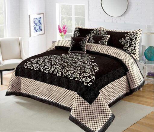 Four Border Velvet Bed sheet 01
