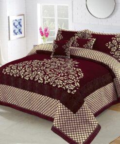 Four Border Velvet Bed sheet 02