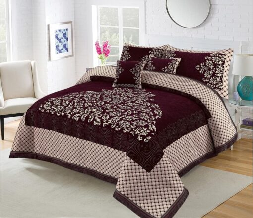 Four Border Velvet Bed sheet 03