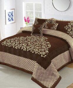 Four Border Velvet Bed sheet 04
