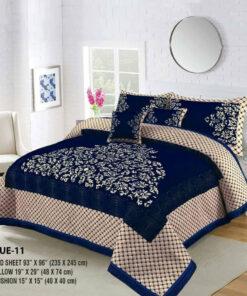 Four Border Velvet Bed sheet 07