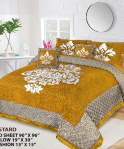 Four Border Velvet Bed sheet 15