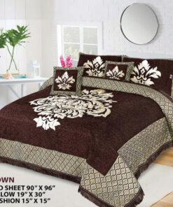 Four Border Velvet Bed sheet 16