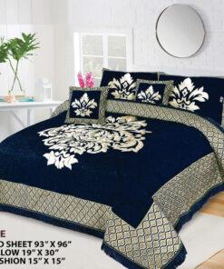 Four Border Velvet Bed sheet 17