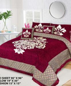 Four Border Velvet Bed sheet 20