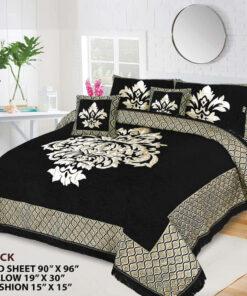 Four Border Velvet Bed sheet 21