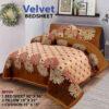 Four Border Velvet Bed sheet 22