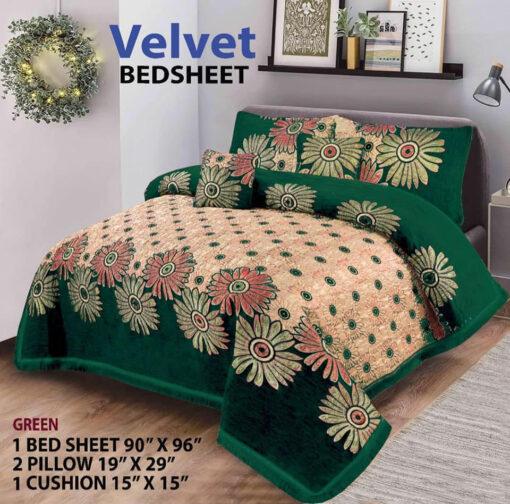 Four Border Velvet Bed sheet 23