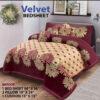 Four Border Velvet Bed sheet 24