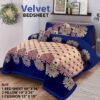 Four Border Velvet Bed sheet 25
