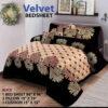 Four Border Velvet Bed sheet 28