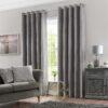 Imported Malai Velvet Curtains Light Grey
