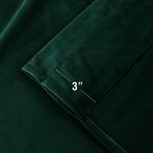 Imported Malai Velvet Curtains Green
